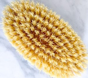 Dry Body Brushing.  A simple way to get healthier skin.