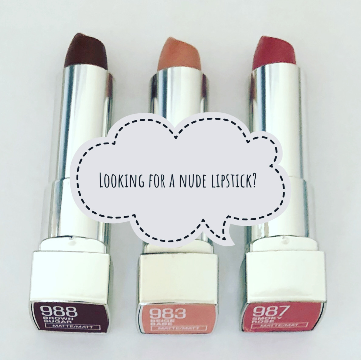 I'm loving Maybelline's Nude Lipsticks.